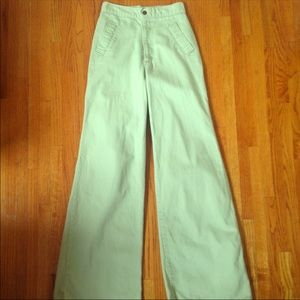 Vintage 1970's High Waisted Jeans Green by…